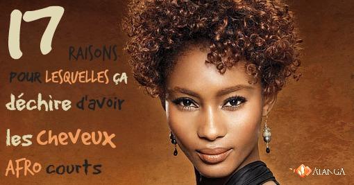 Coiffure pour cheveux afro court